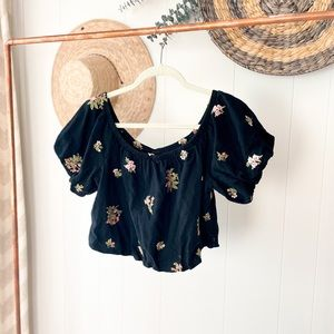 Embroidered American Eagle Crop Top